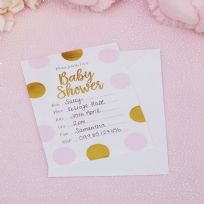 Pattern Works Pink Baby Shower Invitations (10)